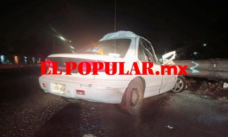 Automovilista se salva de resultar herido sobre la autopista México-Puebla