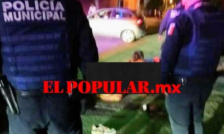 """Dejan como """"Santo Cristo"""" a presunto asaltante en la junta auxiliar de San Felipe Hueyotlipan"""