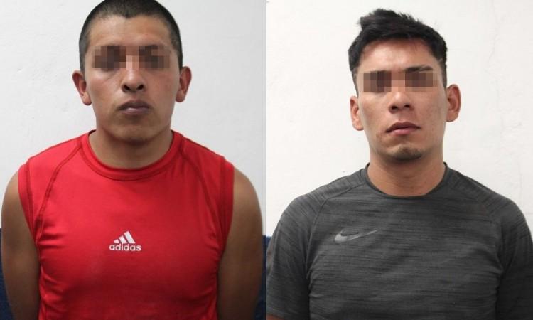 Detienen a dos presuntos asaltantes y extorsionadores en la colonia Villa de Reyes