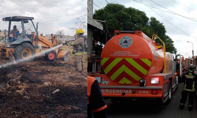 En una hora ocurren dos incendios y un conato en Puebla capital
