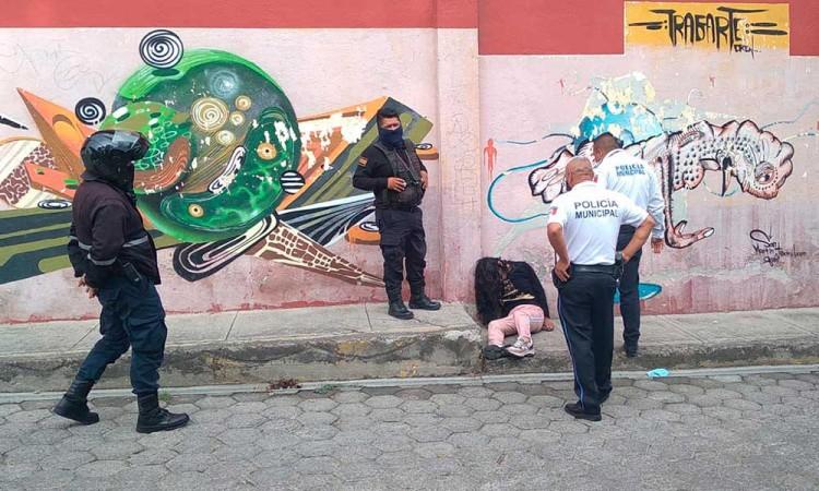 Reporte de mujer arrojada a la vía pública causó movilización policial en San Pedro Cholula