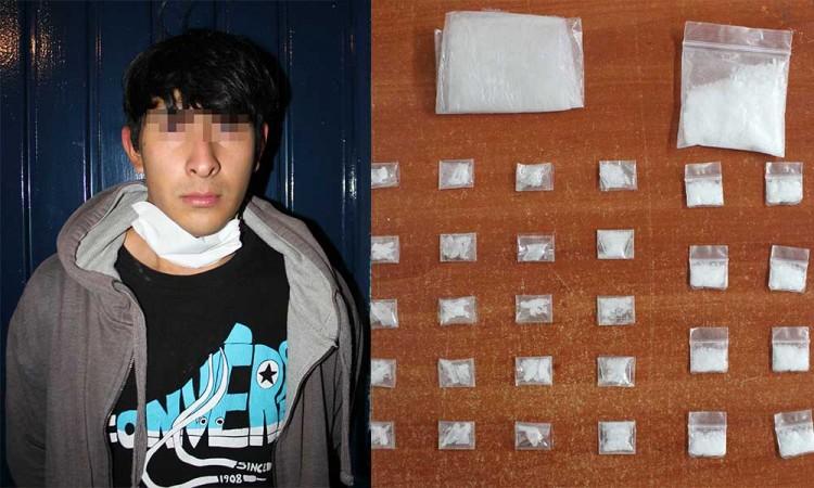 Detienen a presunto narcomenudista en la colonia Santa Rosa