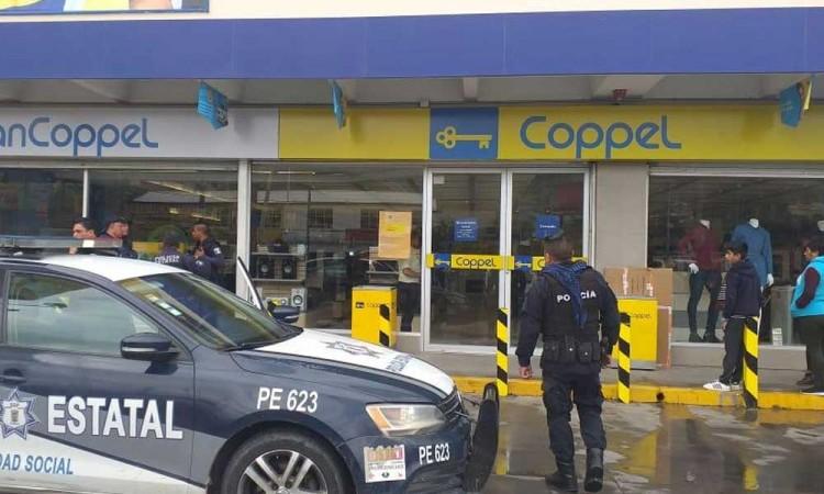 Asaltan Coppel de Amozoc, no hubo detenidos