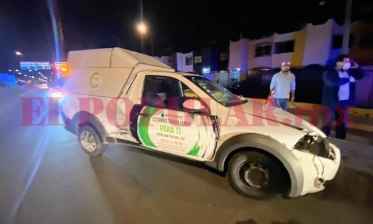 Choque deja dos trabajadores de Agua de Puebla lesionados