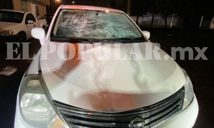 Peatón resulta herido al ser atropellado San Francisco Totimehuacan
