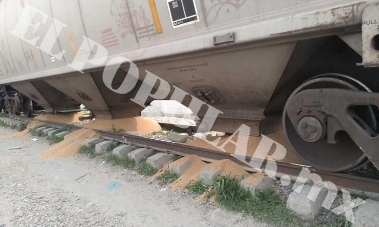 Intentan saquear tren en San Pablo Xochimehuacan
