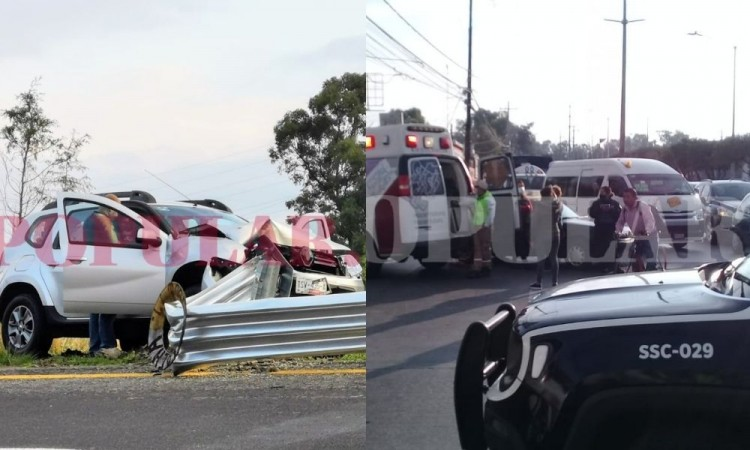 Ocurren tres percances viales en una hora, en distintos puntos de la zona metropolitana de Puebla