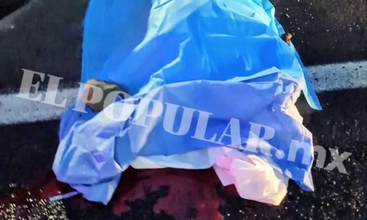 Hombre muere atropellado en la autopista Puebla-Orizaba